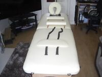 Massage bed and accessories for sale