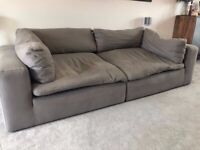 Made. Com Samona Mineral Grey 3 Seat Sofa - Only 4 Months Old