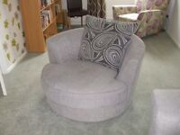 3 piece sofa set for sale, 3 seater, 2 seater and cuddle chair, 2 years old