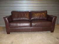Brown Full Hide Leather 3-1-1 Suite