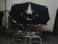 Silver Cross Twin Trident Pram Coach Built Vintage
