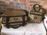 Small antler suitcase and matching carry bag