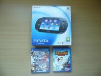 PlayStation Vita - Fully Boxed - WIFI Enabled - 8 GB Memory Card + 2 Games - VGC - Can Deliver