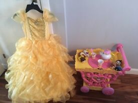 Disney beauty and the beast tea trolley and costume