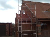 scaffold tower on wheels
