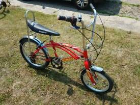 Retro chopper bike