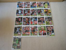 SUNDERLAND AFC MATCHDAY PROGRAMMES 2016-2017 X 21 PLUS OFFICIAL TEAM SHEETS X 21