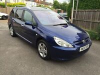 2005 PEUGEOT 307 1.6 SE ESTATE 7 SEATER