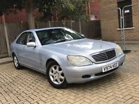 MERCEDES BENZ S CLASS S320 3.2 SALOON PETROL AUTOMATIC LUXURY CAR SPACIOUS 12 MONTHS MOT NO 7 SERIES