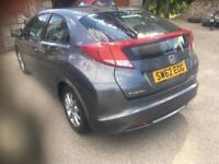 2013 62 Honda civic ex 2.2 d-tec 5 dr.(DIESEL £20 TAX)
