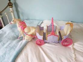 Dolls horse and carriage