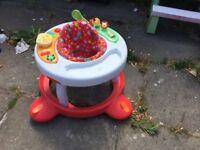 Hooks Multicoloured Walk Around 2 in 1 Baby Walker -
