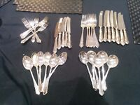 Stunning 44 Piece Silver Plated Cutlery Set