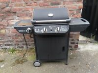 2 Burner Propane Gas BBQ with Side Burner spare or repare