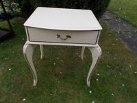 Vintage French style table with drawer