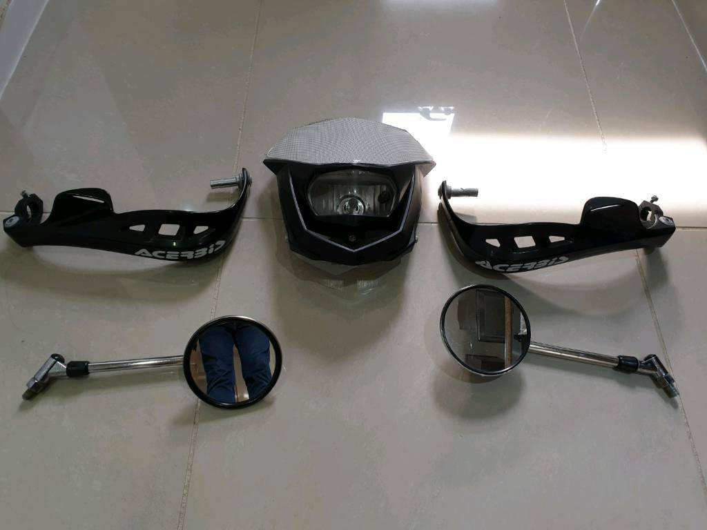 Hand guards (sold), chrome mirrors and headlight | in Gosforth, Tyne and  Wear | Gumtree