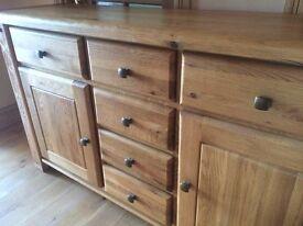 MAGNIFICENT solid oak dresser sideboard BELFAST NEWCASTLE can deliver hall livingroom kitchen superb