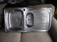Stainless Steel kitchen / Utility Bowl and a half inset sink top
