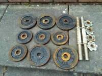Old Weider weights dumbells