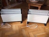 NEW 2 x Electric Bar 2000w Convector Heater