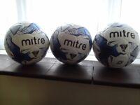 3 x new mitre match balls