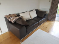 Immaculate 3 Seater Leather Sofa - Unmarked and as New