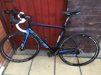 PLANT X RTD80 FULL CARBON DISC BRAKE ROAD BIKE. £585ono LIKE NEW CONDITION