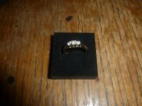 2 gold and diamond rings for sale