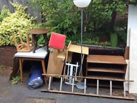 Various pieces of wooden furniture or good firewood!