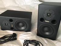 Foster PM1 Active Bi-Amp studio monitors