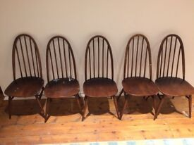 5 x Ercol Dining Chairs