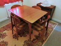 1960s Classic Design Dining Table & Four Chairs