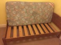 Free wooden single bed with fire rated matress