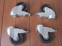 4 x Highest Quality Tente Locking Swivel Castor Wheels