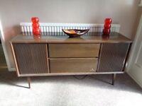 Vintage 1970's Grundig Bergamo Stereo Console Record Player/Tuner
