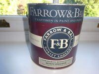 FARROW & BALL PAINT 2.5 litres estate emulsion