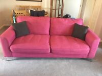 3 Piece Suite, pink, 5 years old, fair condition. Must be collected. £60