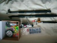 3xfishing rods and other eq