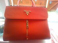 Prada red handbag as new