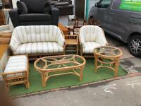 Bamboo/ tropical rattan furniture set
