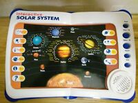 2 Interactive Learning Pad style Books - Solar System & World Map