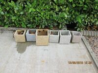 Indoor or outdoor polished granite plant pot holders