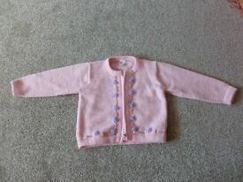 3-4 year old wool knit zip jacket (never worn)