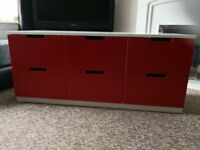Solid 6 drawer storage / kids storage unit. £35