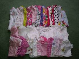 6-9 months bedtime baby girls clothes bundle