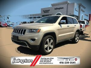 2015 Jeep Grand Cherokee LIMITED - 4x4, 3.6L V6 *FORMER RENTAL*