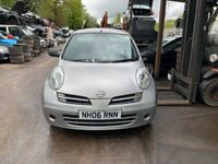 2006 Nissan Micra S 3dr 1.2 Petrol Silver BREAKING FOR SPARES