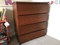 4drawer ikea malm chest of draws