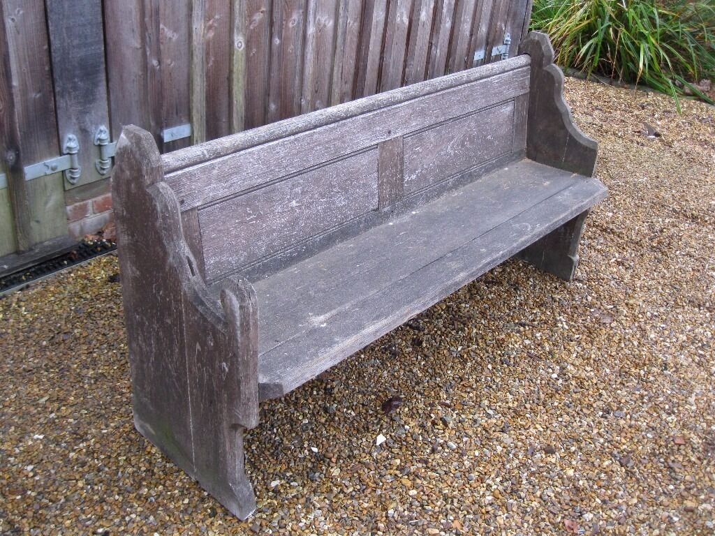 Victorian Church Pew Damaged But Sturdy Different Chapel Benches For Sale Delivery Possible