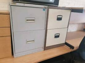 Metal 2 drawer filing cabinets